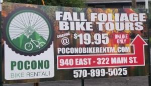 Pocono Bike Rental Fall Foliage Tours