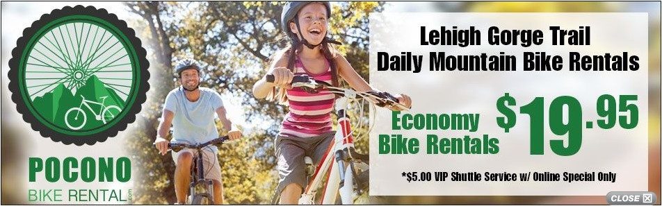 Pocono Bike Rental Affordable Pocono Biking Fun