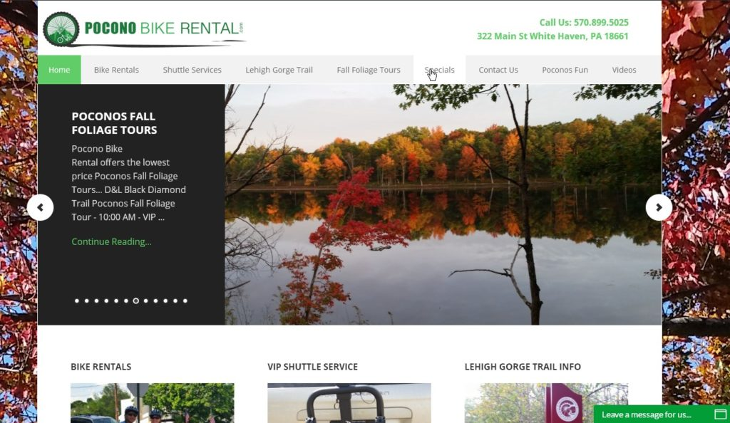 Pocono Mountains Fall Foliage Report 2019  - PoconoBikeRental.com