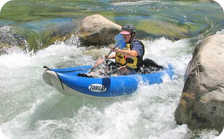 Aire Tributary Tomcat Inflatable Whitewater Kayak - Poconos - Lehigh River Kayak Rentals