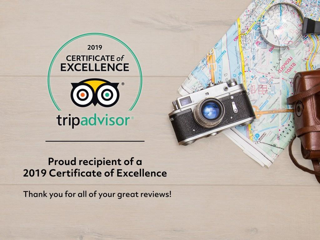 trip advisor certificate of excellence Pocono Bike Rental