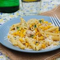 Kuchnia dla zabieganych: Makaron z kurczakiem i kukurydzą