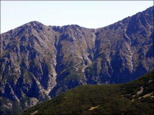 Widok z Wyżniej Przełęczy pod Kopą (1778 m n.p.m.) - sierpień 2012
