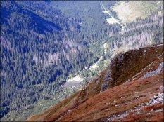 Spojrzenie z podejścia na Wołowiec - wrzesień 2012