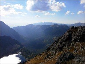 Widok na zachód ze Szpiglasowego Wierchu - wrzesień 2012