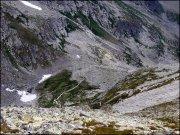 Spojrzenie z góry na Kozią Dolinkę - 23 lipca 2013