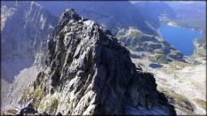 Orla Perć - Kozie czuby (2263 m n.p.m.) widziane z Koziego Wierchu (2291 m n.p.m.) - 29 lipca 2013