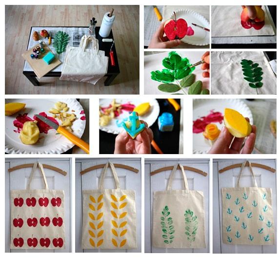 Η διαδικασία διακόσμησης μιας τσάντας με χρώματα