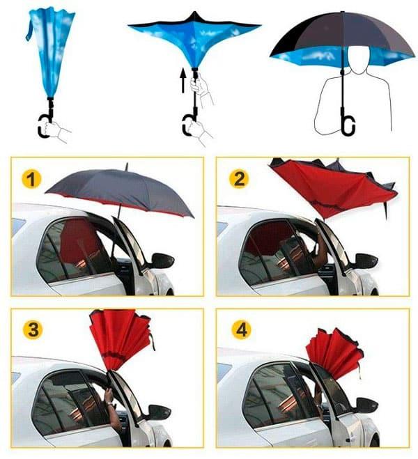 傘は、反対側に近い