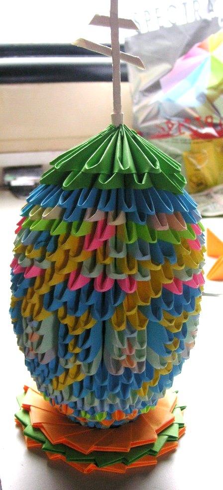 Оригами.Пасхальное яйцо.