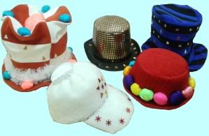Украшение шляпок для Снеговиков.
