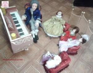 Кукольная салонная мебель.
