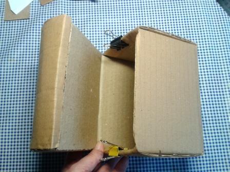 Сборка картона для шкатулки.