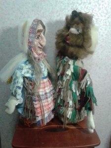 Двуликие куклы для театра.