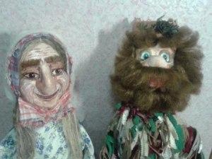 Куклы для театра.Баба Яга и Леший.