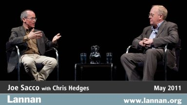 Joe Sacca with Chris Hedges