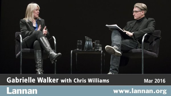 photo of Gabrielle Walker with Chris Williams 23 March 2016
