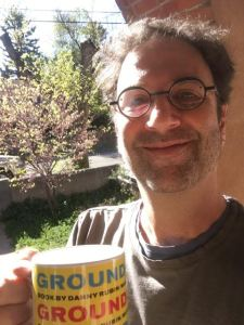 Danny with his Groundhog Day mug