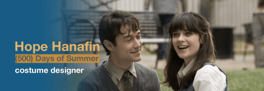 Hope Hanafin, costume designer of 500 Days of Summer and The Newsroom