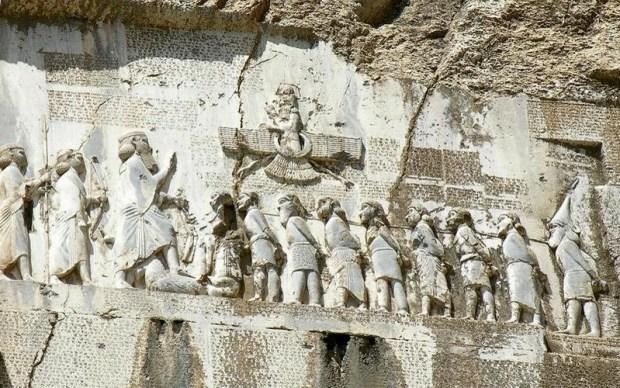 Behistoun inscription, Darius the Great דריווש הגדול, כתובת בהיסתון
