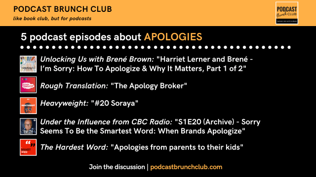 5 Podcast Episodes about Apologies