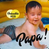 Photo de bébé avec écris Papa !