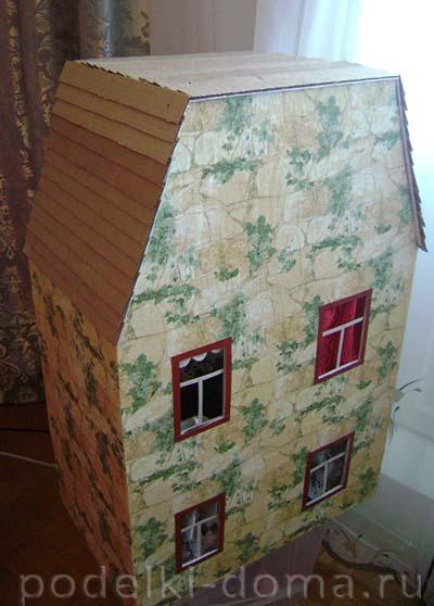 kukolny-domik33 Чего сделать кукольный дом. Кукольный домик своими руками: инструкции и советы по созданию. Чтобы сделать детский домик своими руками, нужно