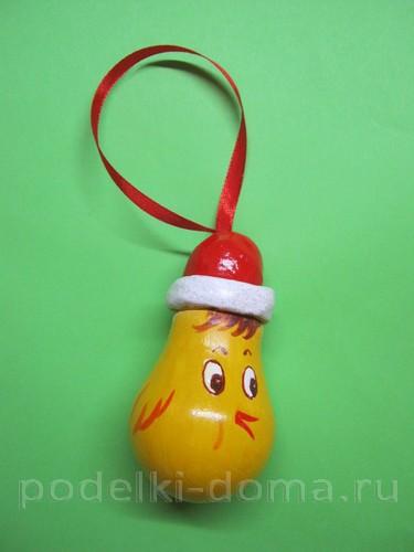 """Mainan pokok Krismas dari mentol cahaya """"Young Cockerel"""""""