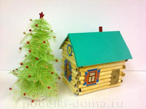 Рождестволық ағаш және үй
