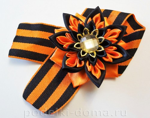 Georgievskaya lenta s cvetkom14.