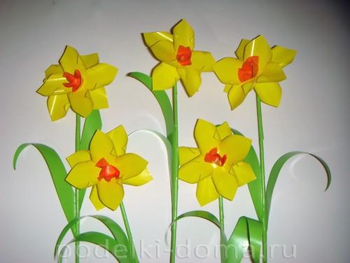 бумажные цветы нарциссы13