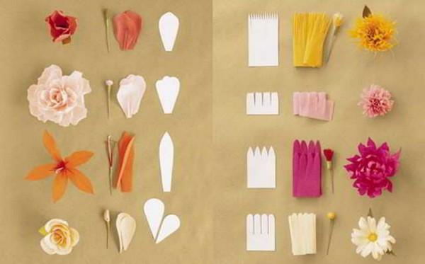 Corrugation - mga form ng petals.