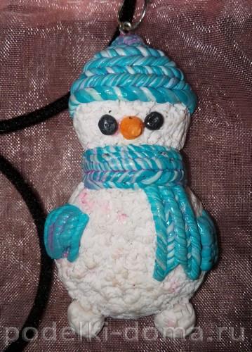 снеговик лепка