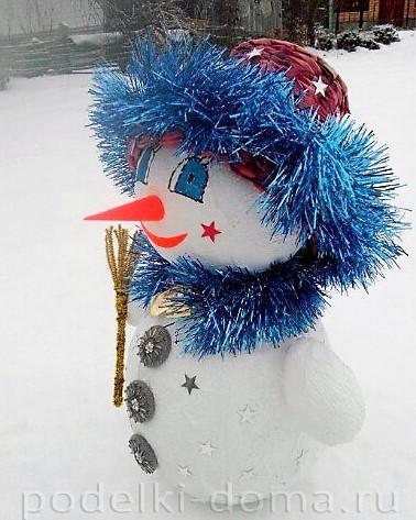 Papier-Masha Snowman 6