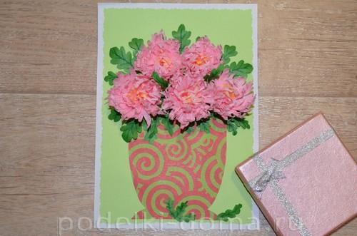 бумажные цветы хризантемы