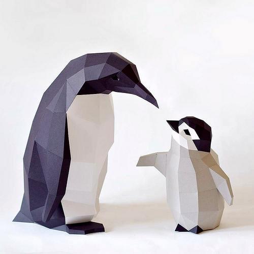 Паперкрафт для начинающих, бумажное моделирование, объемные скульптуры и простые фигуры из бумаги для детей