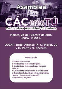 Asamblea CACeres Tú - Febrero 2015
