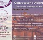 Cartel Asamblea de CACeresTtú de 9 de julio de 2018