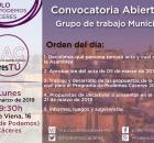 Cartel de asamblea de CACeresTú de 11 de marzo de 2019