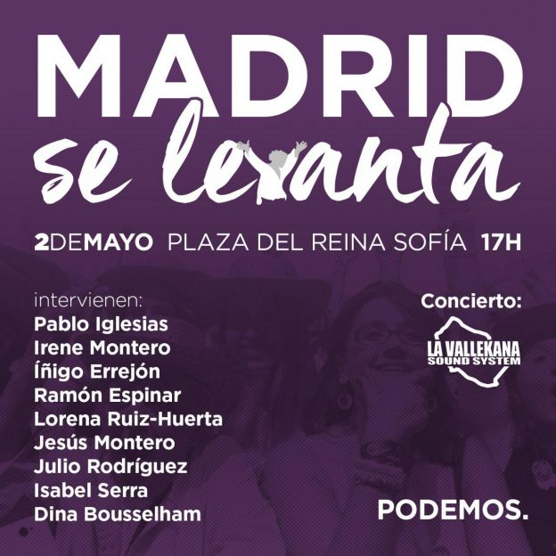 Image result for irene montero madrid se levanta