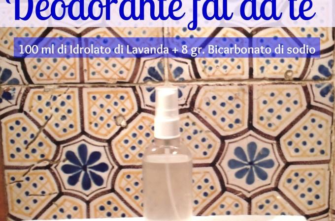 Deodorante corpo fai da te con idrolato di Lavanda
