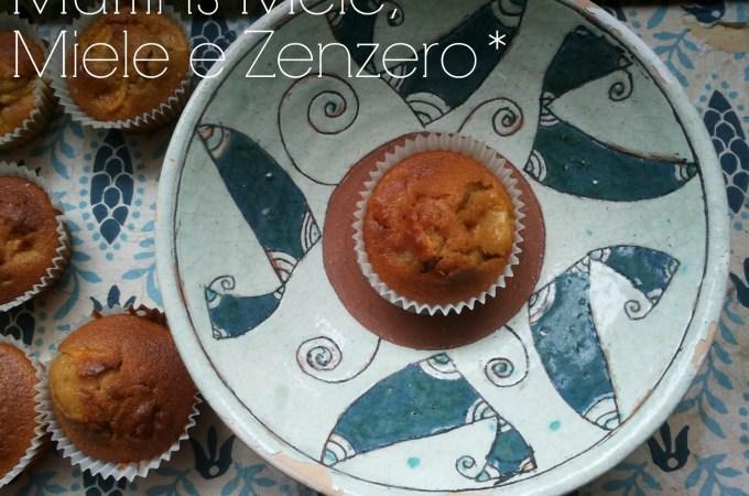 Muffin alle mele, miele e zenzero