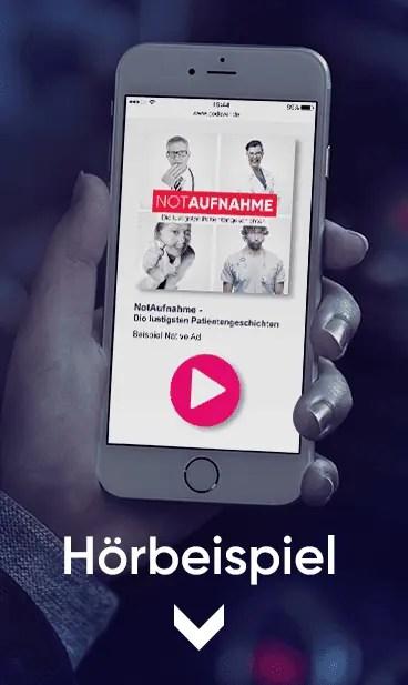 Podcast Werbung mit Podever: Hörbeispiel Native Advertising