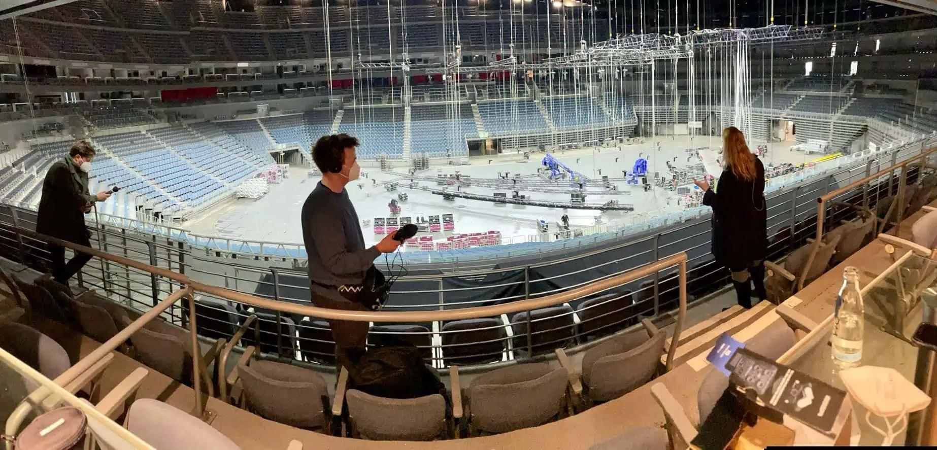 Podcast Aufnahme Lanxess Arena Köln