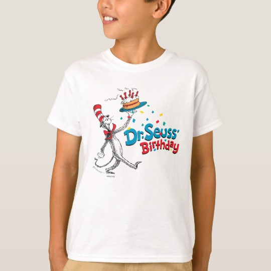 The Cat In The Hat Dr Seuss Birthday T Shirt Custom Fan Art