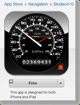 speedometer app in iTunes store