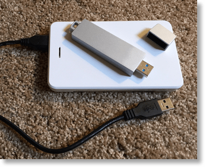 envoy_pro_mini on top of external drive for scale