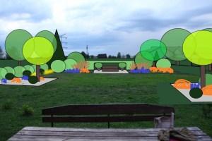 ogród Ewy i Mariusza - wizualizacja 1