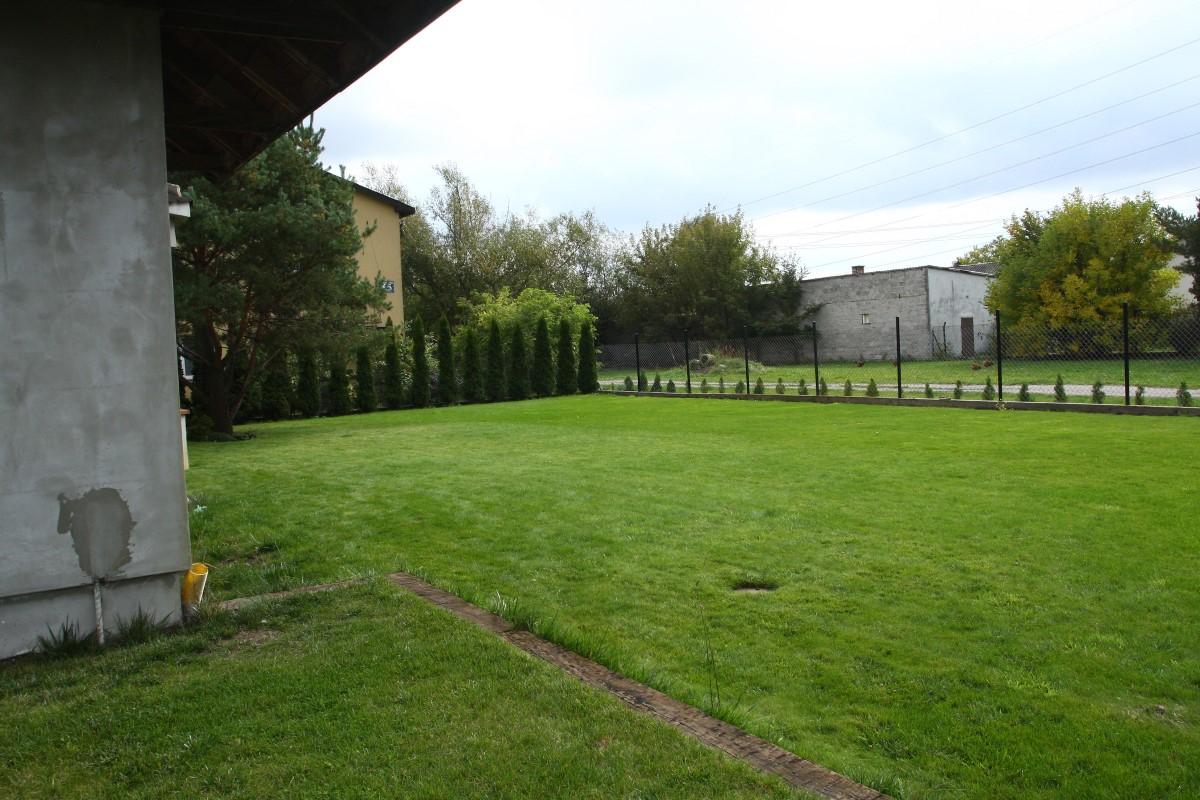 ozdobna część ogrodu - widok od strony furtki