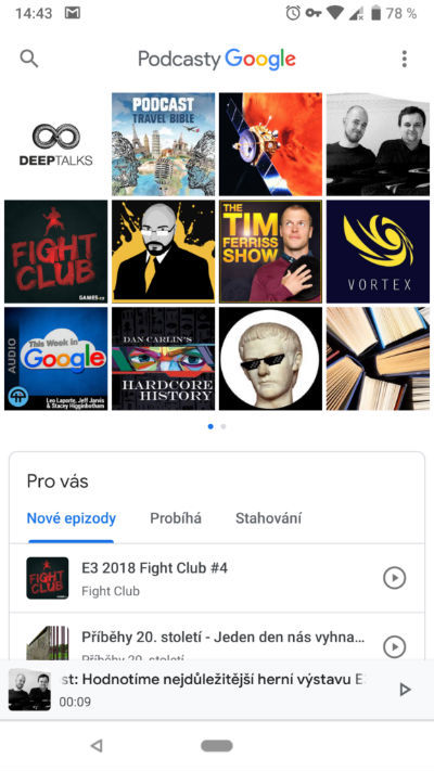 Google Podcasty